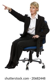 angry business woman sitting close up shoot
