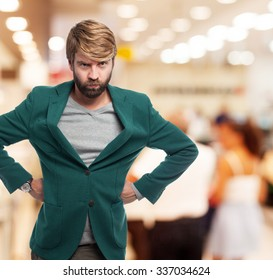 angry businessman concentrated