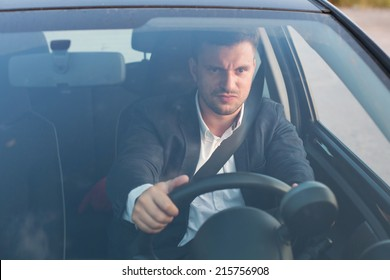 angry car driver