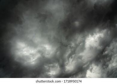 Angry clouds before strong rain