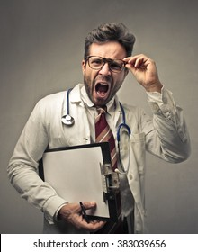 Angry doctor