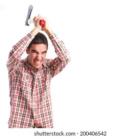 Angry guy with an ax