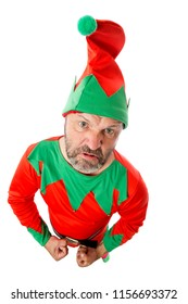 An angry and mischievous Christmas elf.