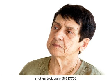 Angry Old Woman Portrait