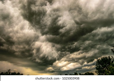 Angry ominous storm clouds over Kentucky-natures photography