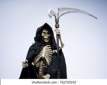 Angry reaper with scythe