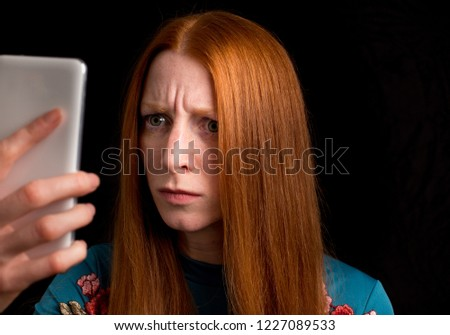 Angry redhead girl words... super