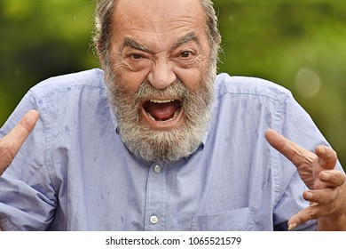 Angry Senior Colombian Grandpa