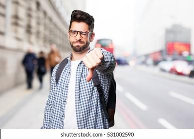 angry student man