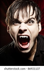 Angry vampire screaming