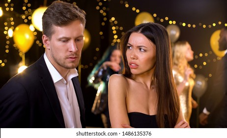 Angry woman feeling offence, suspecting boyfriend in cheating and betrayal