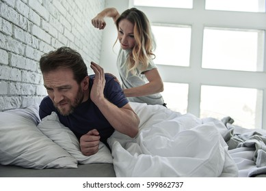 Husband her wife beating Wife angrily