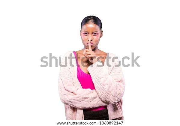 angry young black girl