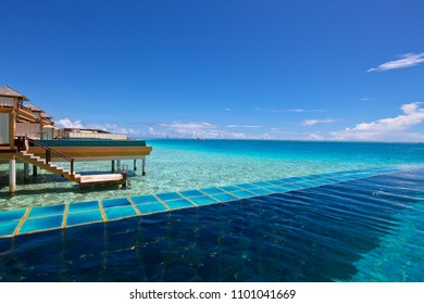 ANGSANA VELAVARU 2015 - Beautiful view from the water villa private pool in 5 star resort known as Angsana Velavaru Maldives on October