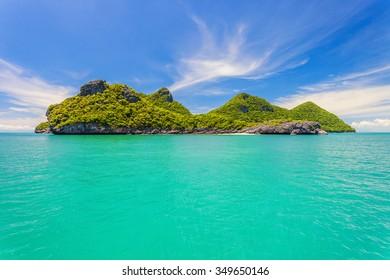 Angthong marine national park, koh samui, thailand