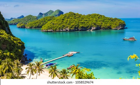 Angthong national marine park, koh Samui, Suratthani, Thailand. Asia.
