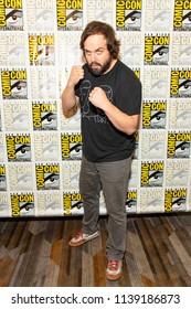 "Angus Sampson attends Comic-Con International San Diego 2018 - Syfy's ""Nightflyers"" press room, San Diego, California on July 19, 2018"