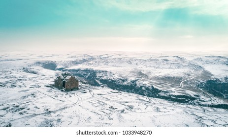 Ani Ruins, Aerial shot, Ani is in the Turkish province of Kars