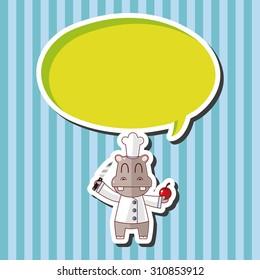 animal chef cartoon, cartoon speech icon
