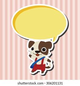 animal dog cartoon, cartoon speech icon
