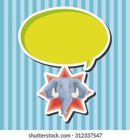 animal elephant cartoon, cartoon speech icon
