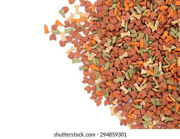 Animal feed isolated on white background