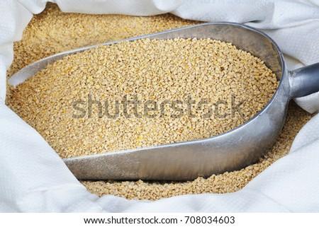 animal feed chicken feed pellets food pellets hamster stock photo