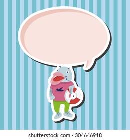 animal fish summer cartoon, cartoon speech icon