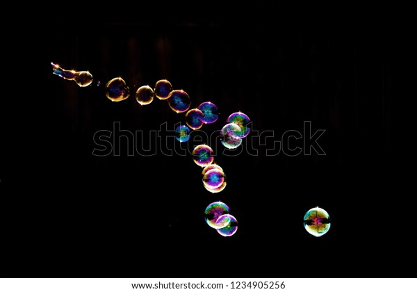 Animal Shape Funny Bubbles Overlay Transparent Stock Photo