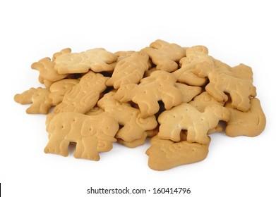 animal shaped cracker isolated on white background
