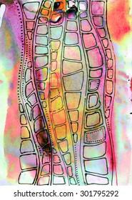 animal snake skin, illustrative background
