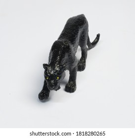 animal toys on white background