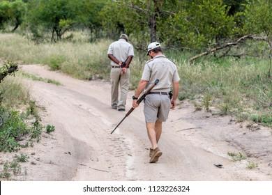 Animal trackers and African anti poaching safari.