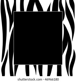 Animal zebra print frame