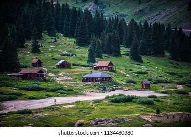Animas Forks Ghost town Alpine Loop near Silverton Colorado
