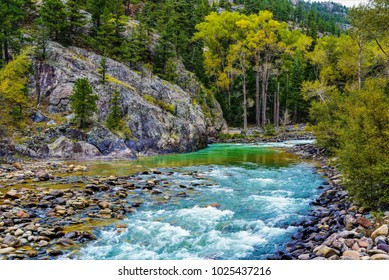 The Animas River, also known as The River of Lost Souls runs southward from Silverton, CO., to Durango, CO.  It courses through deep canyons and gorges and is particularly beautiful n the fall.