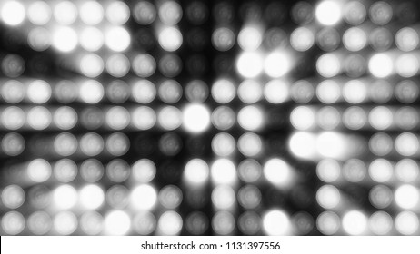 Animation of flashing light bulbs on led wall or projectors for stage lights. Bright stage lights flashing.bulbs on led wall or projectors for stage lights. Animation of seamless loop.