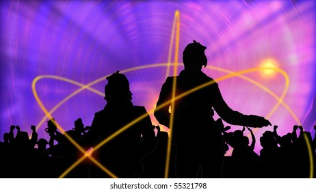 Animation presenting group of people dancing in high definition