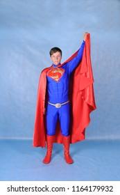 Animator in a Superman costume