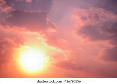 anime sunset and sunrise pastel sky background - Shutterstock ID 416790856