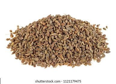 Anise seeds isolated on a white background