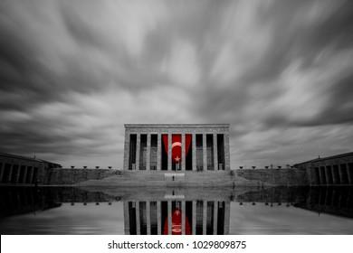 Anitkabir in Ankara Turkey. Anitkabir is Mausoleum of Ataturk. Founder of Turkish Republic