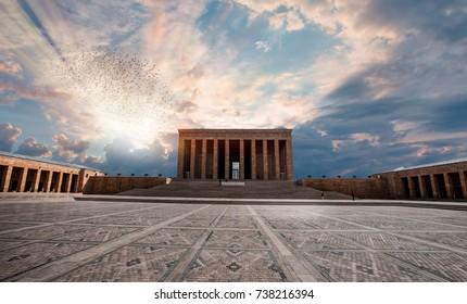 Anitkabir - Mausoleum of Ataturk, Ankara Turkey