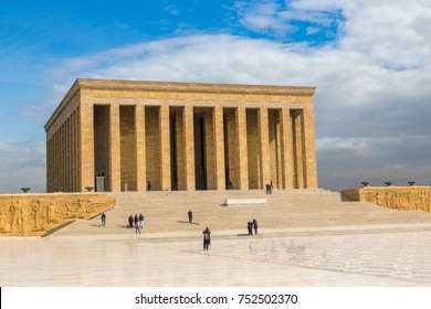 Anitkabir, mausoleum of Ataturk, Ankara, Turkey in a beautiful summer day