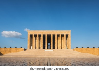 Anitkabir mausoleum in turkish capital Ankara, Turkey