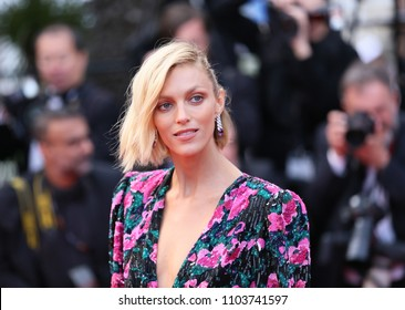 Anja Rubik attends the screening of 'Sink Or Swim (Le Grand Bain)' during the 71st annual Cannes Film Festival at Palais des Festivals on May 13, 2018 in Cannes, France.