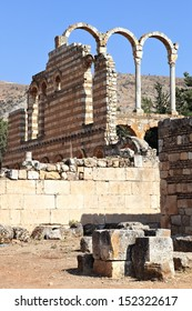 Anjar, Lebanon : The ruins of the ancient city of the Umayyads in the Beqaa Valley.