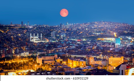 "Ankara, Capital city of Turkey ""Elements of this Image Furnished by NASA"""