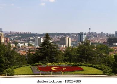 Ankara, Capital city of Turkey, a view from Mausoleum of Ataturk.