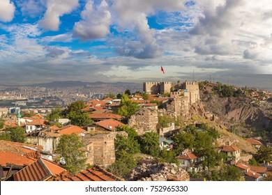 Ankara Castle, Ankara, Turkey in a beautiful summer day